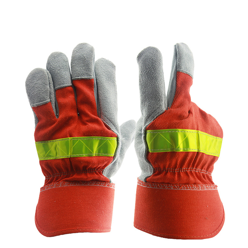 Kim Yuan High Visibility Welding Gloves With Reflective Strip Heat And Fire Resistant Reflective Cut Resistant Safety Gloves 14 Back To Search Resultshome