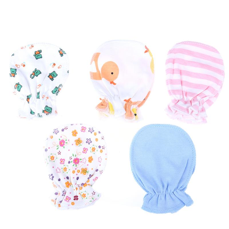 5 Pairs/set Baby Gloves Winter Cotton Four Seasons Full Gloves Soft Newborn Safety Gloves Infant Boys Girls Anti Scratch Mittens