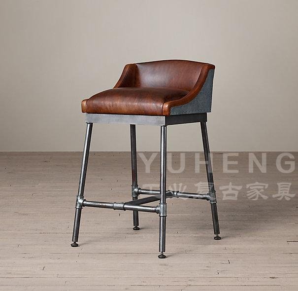 American Style Retro To Do The Old Wrought Iron Bar Chairs