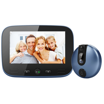 Smart Electronic Cat Eye 4.3 Inch LCD Colorful Screen Video Doorbell Camera Viewer for Night Vision Motion Detection