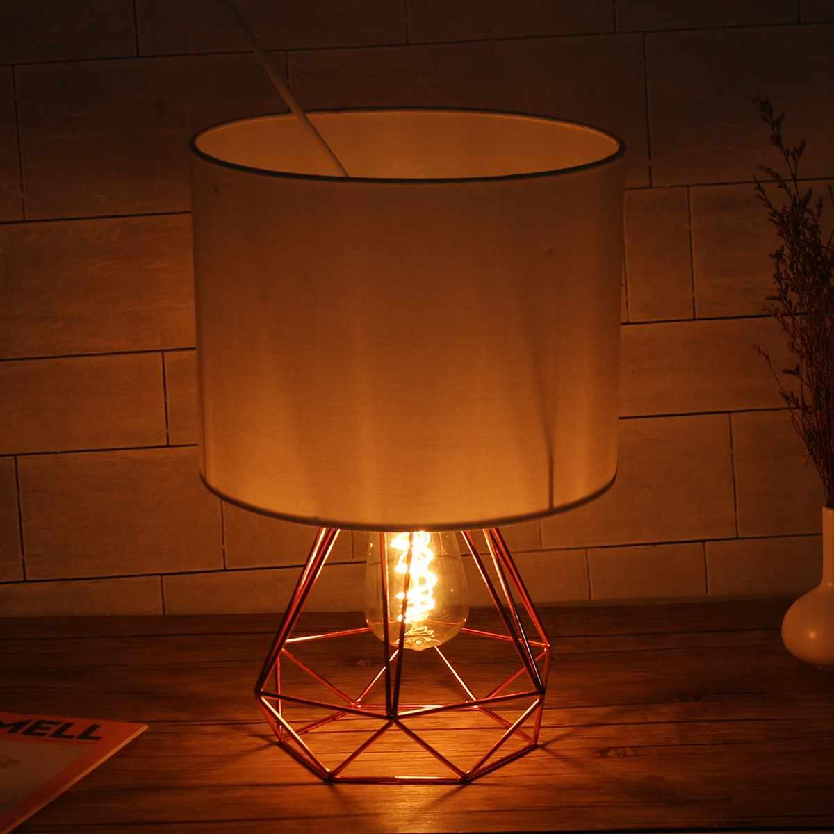 Suporte geométrico lâmpadas de mesa e27 base