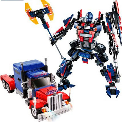 Models building toy Truck Model 8713 377pcs Robot 2 In 1 Building Blocks compatible with lego Robot toys & hobbies