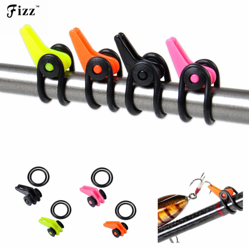 10Pcs/Bag Plastic Fishing Rod Pole Hook Keeper for Lures Bait Spoon Treble Fish Hook Safety Holder Fishing Tackle Accessories