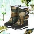 Sapatos camuflagem meninos das crianças botas de inverno meninas à prova d' água crianças botas de inverno forro de pele quente moda neve botas tamanho: 31-36