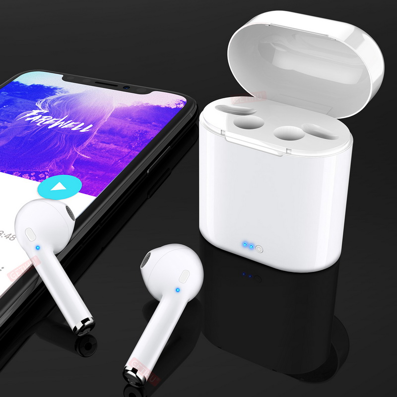 Mini Twins Bluetooth Earphone Stereo headphones Wireless Earphones Sport in Ear Earbuds Earphone Headset For Apple iPhone X 8 6 apple earpods with 3 5mm earphones plug apple earphone for phones stereo in ear earphone with microphone for iphone ipad mac