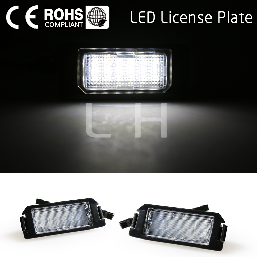 2x 18SMD <font><b>LED</b></font> License plate light For <font><b>Hyundai</b></font> I10 <font><b>I20</b></font> tiburon coupe s III F/L2 car-styling auto parts replacement accessories image