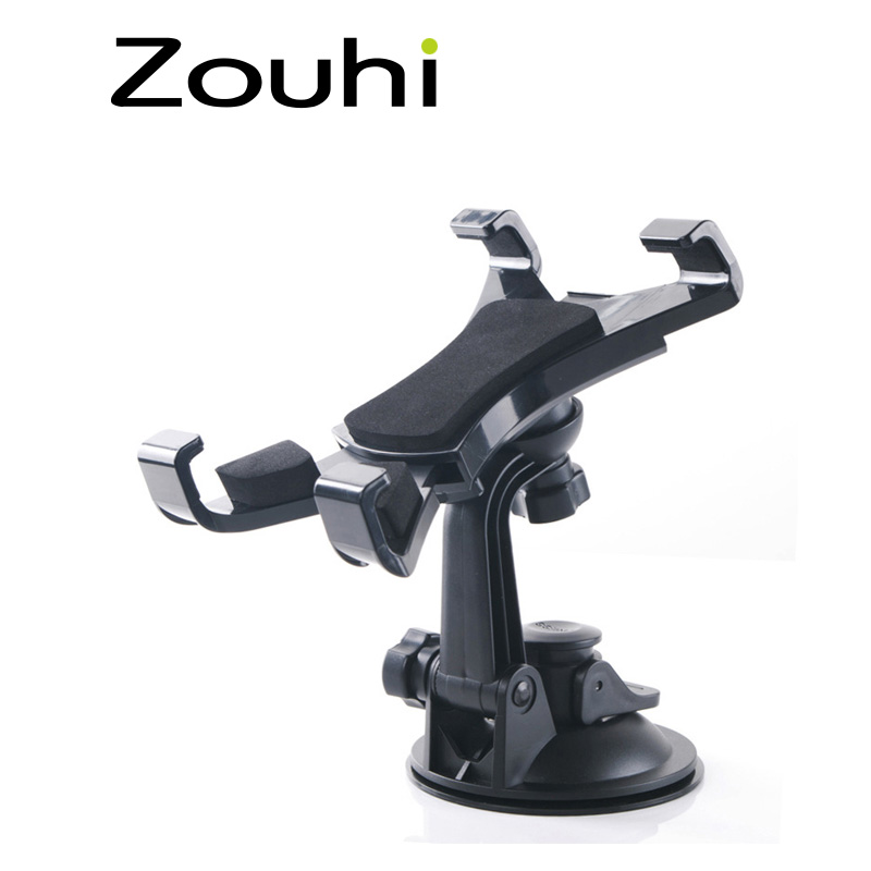 Hot Sale 7-10 inch Tablet PC Universal Car Windshield Suction Mount Holder Stand For iPad Rotary Free ,Cleanable base disc h29 car windshield holder swivel mount w c61 4 5 7 back clip for ipad mini tablet pc black