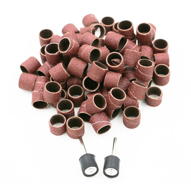 100 pz levigatura tamburo maniche 1/2 disco di carta abrasiva mola - Utensili abrasivi - Fotografia 1