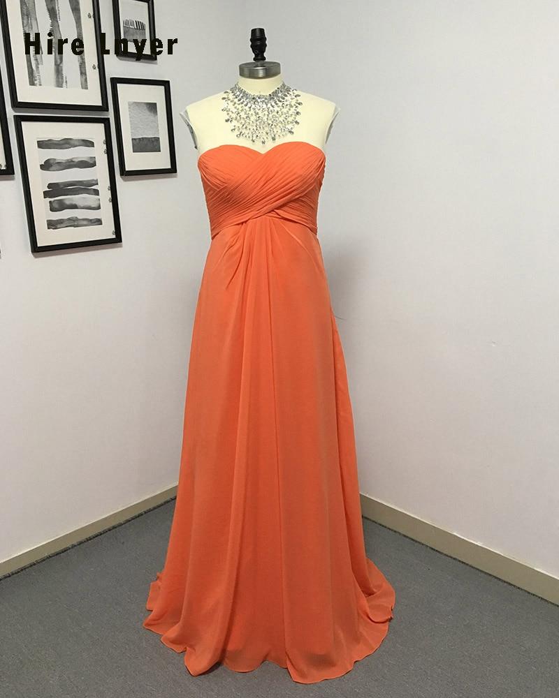 HIRE LNYER Custom Made Shiny Beaded Crystal Sequin Pleat Orange Chiffon Mother of the Bride Dresses 2019 Vestido Mae Da Noiva