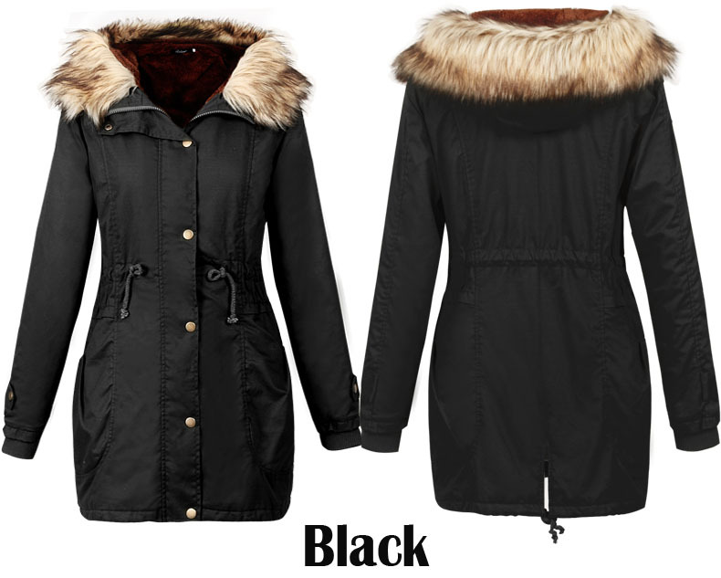 Online Shop ladies Winter Long Coat Jacket 2015 Fashion Women ...