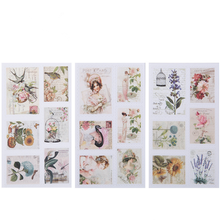 3pcs/lot Retro Pocket Stamps Paper Stickers DIY Pocket Stickers Scrapbooking Stickers for album Decoration label stationery(China)
