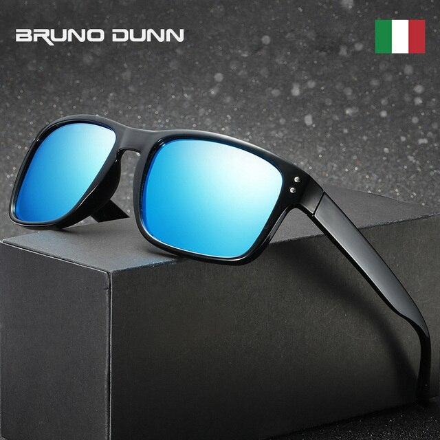 Bruno Dunn Klasik Terpolarisasi Kaca Mata Pria Wanita Mengemudi Lapisan  Hitam Bingkai Memancing Mengemudi Kacamata Pria 0c00f93894