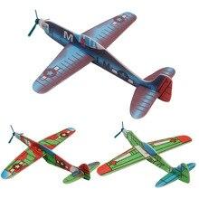 4шт дети сделай сам мини пена ручная работа полет самолеты планер обучающие игрушки модель