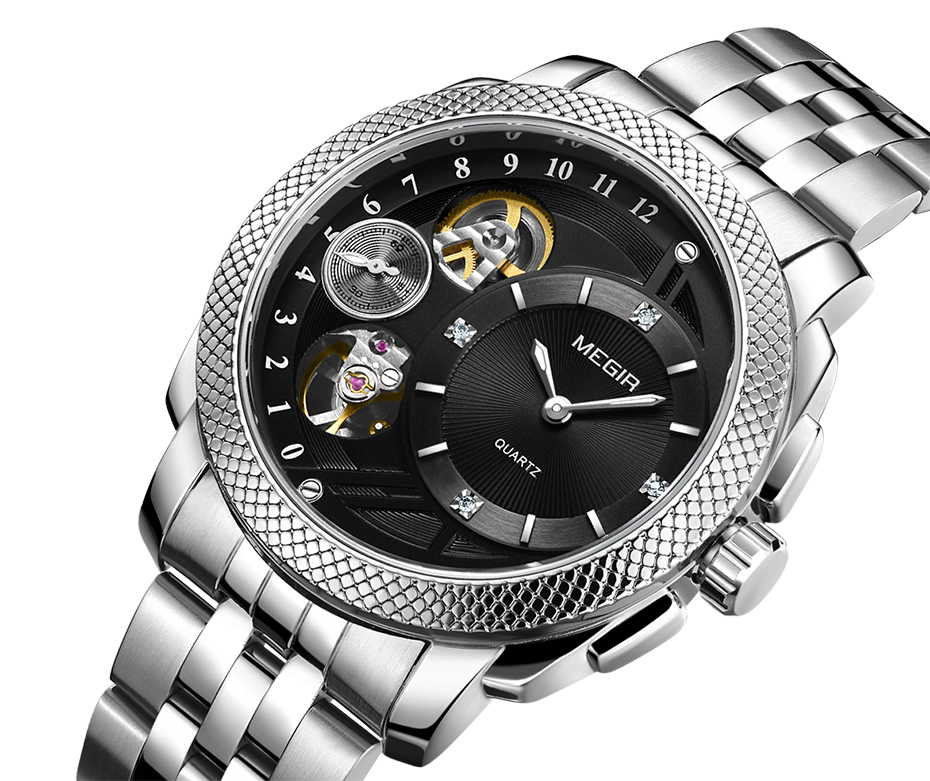 HTB1DGoIXZfrK1RjSszcq6xGGFXar MEGIR Luxury Quartz Watches Stainless Steel Military Wrist Watch