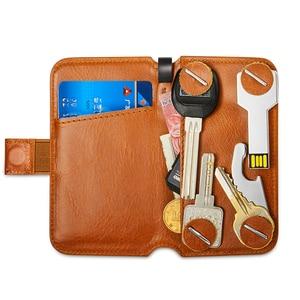 Image 4 - Новый держатель для ключей, кожаный кошелек, сумка для ключей, смена банковских карт, коллекционная карта, экономка