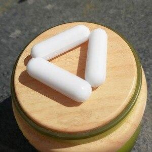 Image 2 - C6x25mm PTFE agitador magnético mezclador barra de agitación PTFE barras de agitación lisas barras giratorias blancas, 10 Uds