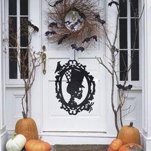 38,5x30,5x0,3 см Хэллоуин Череп нетканые подвесные вывески отделка стен и дверей Хэллоуин вечерние принадлежности украшения реквизит складной