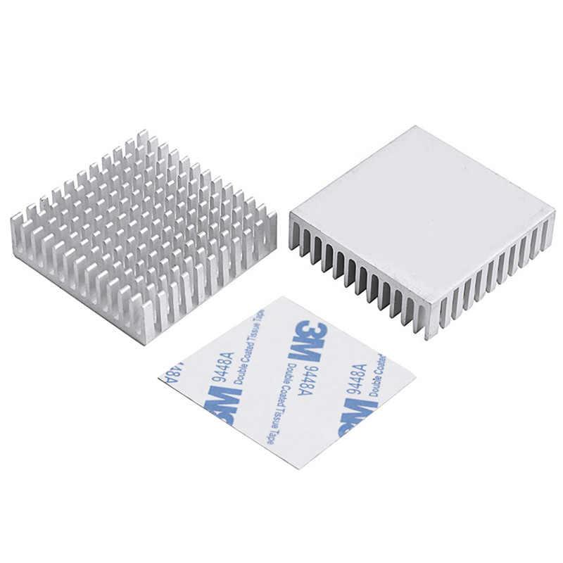 10 adet YOUNUON 40mm 40x40x11mm Alüminyum Soğutucu Isı Emici Radyatör Soğutma cr Elektronik chip IC LED Termal Iletken Ile
