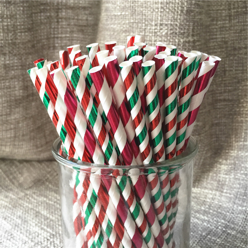 100pcs gold silver christmas stripe mixed birthday party for Water balloon christmas decorations