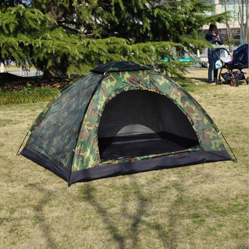 Aliexpress.com  Buy Outdoor C&ing Camouflage Waterproof Family Tents Beach Awning Fishing Teepee Tent Windproof Equipment 2 Person from Reliable 2 person ... & Aliexpress.com : Buy Outdoor Camping Camouflage Waterproof Family ...