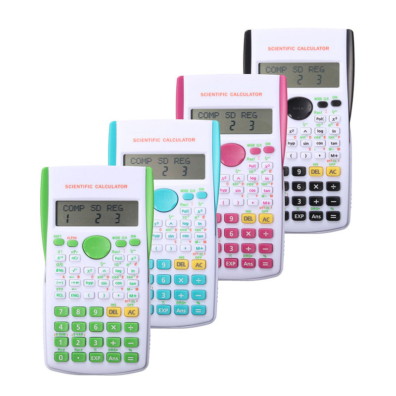 Portable Multifunctional Scientific Electronic Calculator 12 Digital Counter Office Home Students Function Supplies Candy Color