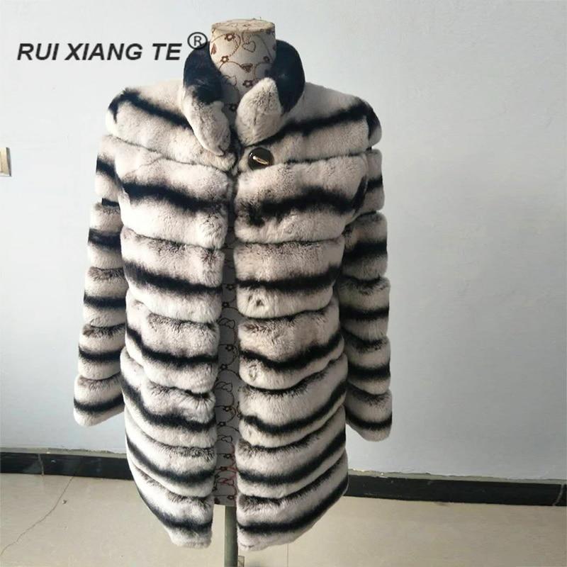 ENVÍO GRATIS mujeres natural real abrigo de piel de lujo cálido - Ropa de mujer