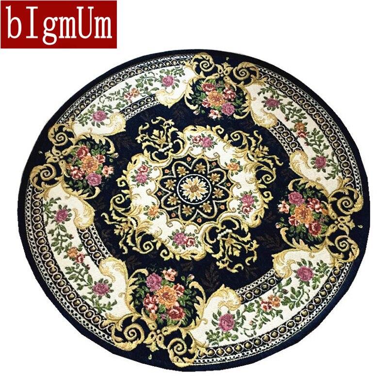 BIgmUm tapis ronds maison tapis salon zone décor doux porte tapis broder chambre tapis de sol tapis antidérapants