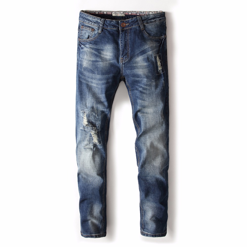 Autumn winter men jeans men's straight stretch elastic large size youth casual long pants men's clothing jeans men trousers 2016 new mens jeans pants elastic mid rise straight men clothing tops trousers deep blue casual trousers cool stretch men jeans