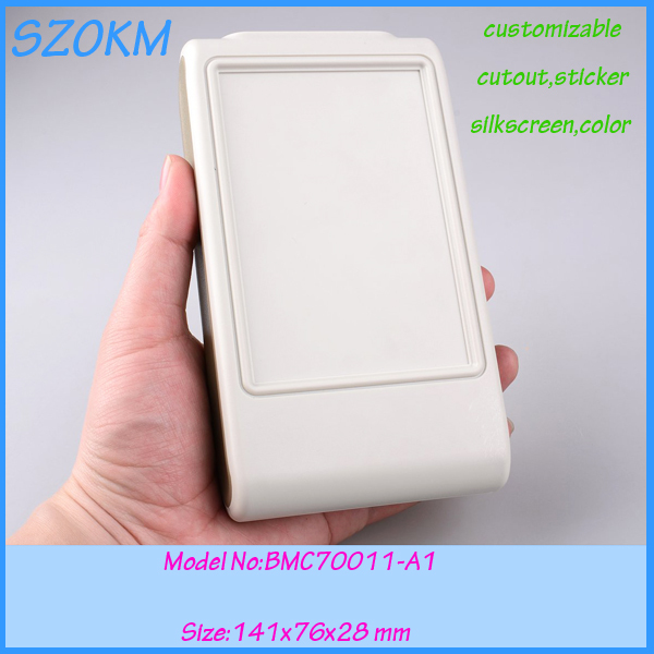 4 pcs lot free shipping abs plastic electrical box handheld electronic enclosure 141x76x28mm