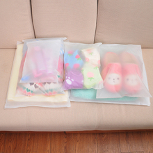 10PCS/Set Travel Home Clothes Storage Bag Frosted Self-sealing Underwear Box Semi-transparent Women Cosmetic