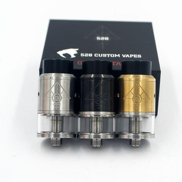 E-cigarrillo MATONES 528 RDTA 22mm RDTA atomizer304 tanque de flujo de aire Ajustable con punta de goteo de acero inoxidable