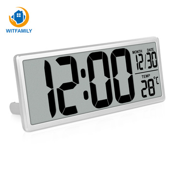12/24 Switch Table Square Clcok 13.8 Inch LCD Clock Indoor Temperature Snooze Electronic Watch Calendar Home Offoice Decor
