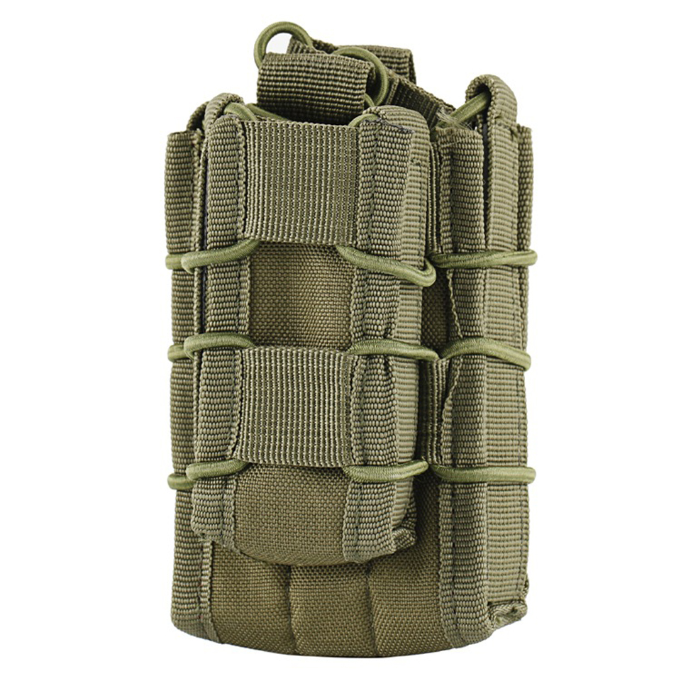 1pc Outdoor Tacitial Double Decker Single Rifle Pistol Bag in 5 Color Molle Pouch Cartridge Clip Pouch Hunting Bag