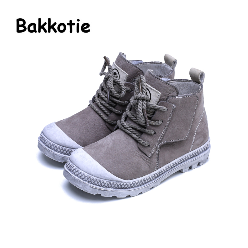 Bakkotie Spring Fashion Baby Boy Genuine Leather Shoes Children Casual High Sneakers Kid Sport Shoes Girl Black Shoes Trainer bakkotie 2018 spring fashion baby boy mesh shoes children casual sneakers kid black sport shoes girl slip on shoes trainer
