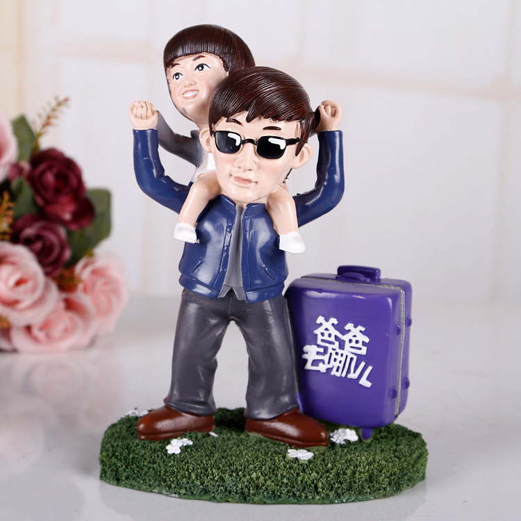 Where My Father Every Day Zhang Liang Resin Piggy Bank Ornaments Birthday Gift Ideas SK428
