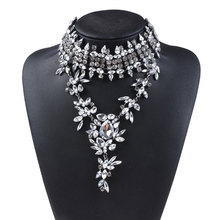 Full Crystal Pendant Exaggerated Necklace Clavicle Chain Clothes Accessories Fine