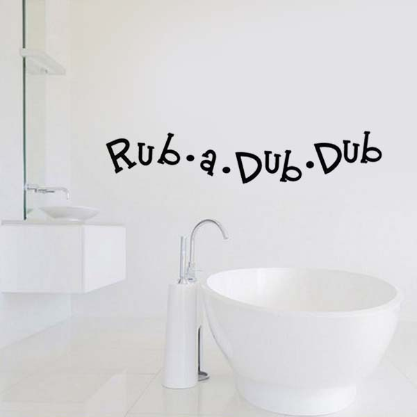 Rub A Dub Bathroom Mirror Wall Stickers Family Decals Quotes Kids Rooms Decoration Vinyl
