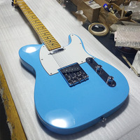 Hot! ! ! Sky blue electric guitar, 22 fingerboard maple fingerboard Chinese guitar,high quality light yellow maple neck