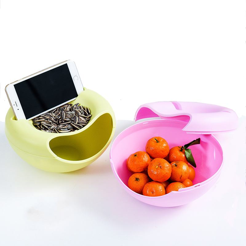 Creative Nuts Sitting Room Melon Seeds Candy Plate Dried Fruit Boxes Storage Box Fruit Plate Organizer For Leisure Phone Holder