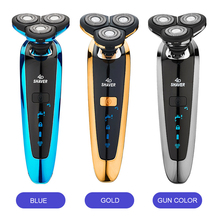 Men Electric Shaver Washable Shaving Beard Machine Razor Rechargeable Electric Shaver With Rotary Three-Tool Head jinding electric shavers gold shaver for men 3d spiral shaving machine rechargeable wash the shaver electric shaver washable