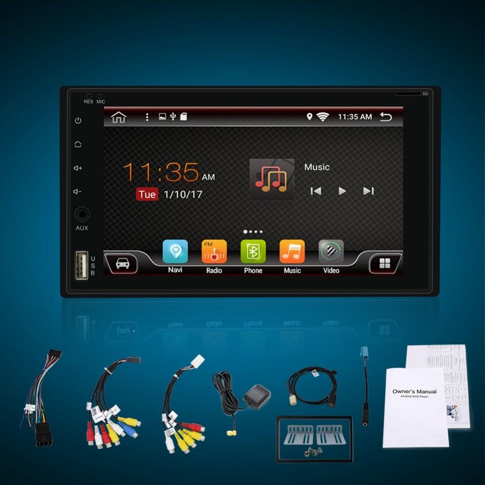 Quad Core 7 INCH 2 Din Android 6.0 Car Audio Non DVD Stereo Radio GPS TV 3G WiFi GPS Navigation Head Unit For Universal VW Car original new den so dvd navigation mechanism rae3370 for toyo ta b9004 b9001 vw mercedes lexuss audi 2g car audio gps