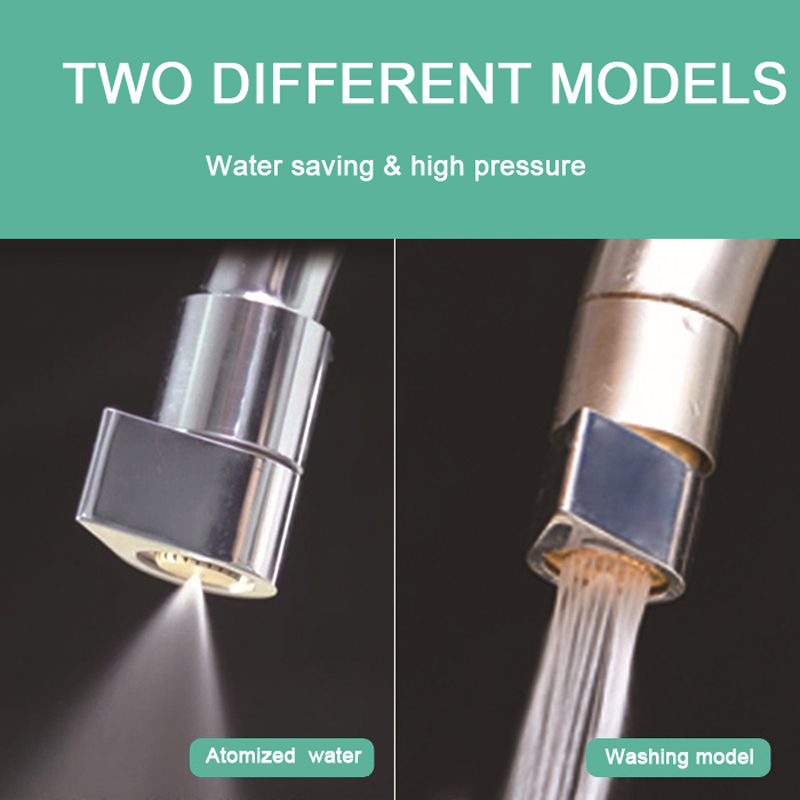 New Brass Two-Function Water Saving Faucet Aerator with Water Mist Kitchen Mixer Accessories