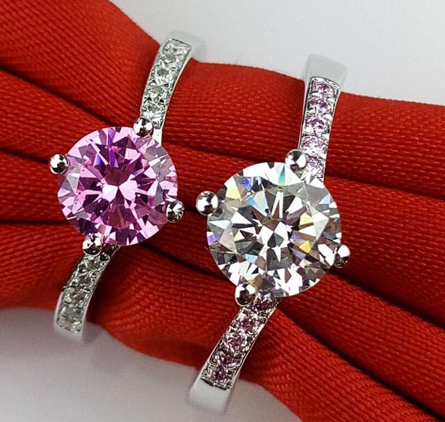 1 carat man made diamond ring true love wedding ring band jewelry for women  (JSA) a0c20a83b4