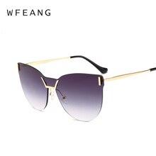 WFEANG llegada mujer clásico marca diseñador gafas de sol doble haz gafas  de sol del marco del Metal UV400 bd08f03db7b0