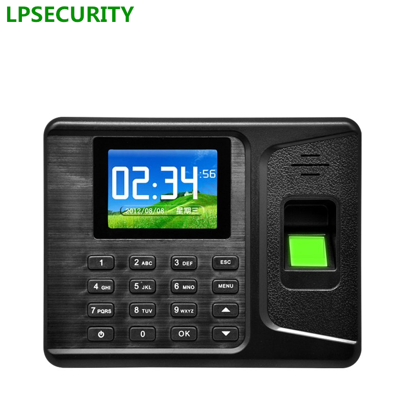 LPSECURITY USB only RFID EM card password access Fingerprint Recognition Time and Attendance System for office hotel factory gprs real time fingerprint access guard tour system
