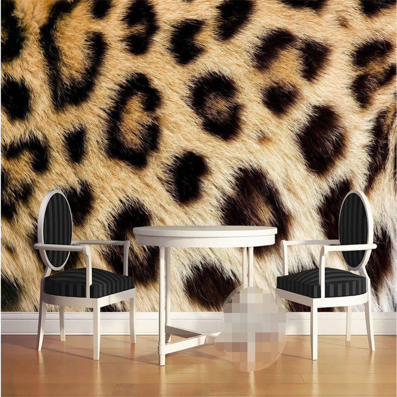Us 110 Mural Wallpapers Photo Background Wall Paper Photography Leopard Texture Animal Hotel Bathroom Large Wall Mural Home Decor In Wallpapers