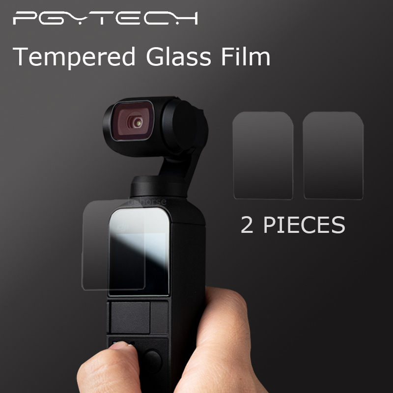 2 Pieces PGYTECH DJI OSMO Pocket Film Screen Protector Tempered Glass Accessories OSMO Pocket Gimbal Film2 Pieces PGYTECH DJI OSMO Pocket Film Screen Protector Tempered Glass Accessories OSMO Pocket Gimbal Film