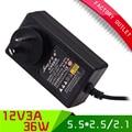 1 шт. Высокое Качество АС Plug power supply pc 12 В питания 3a 36 Вт для светодиодных ламп и камера