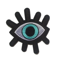 2018 Real Stickers Parches Bordados 2 Pcs New Eye Eyeball Tattoo Wicca Occult Goth Punk Retro Applique Iron-on Biker Vest Patch
