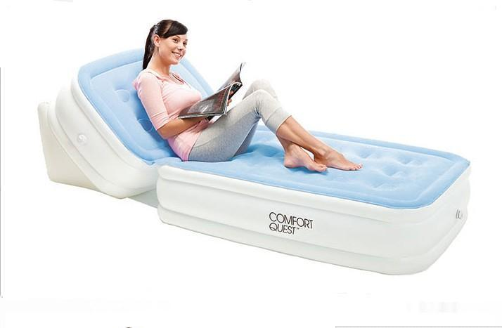 new adjustable back flocking mattress inflatable bed air cushion single folding bean bag living room sofa beds,foldable cushion 2014 intex high quality senior flocking single air bed